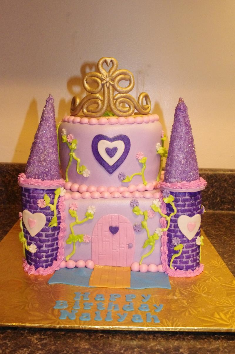 princess castle with tiara