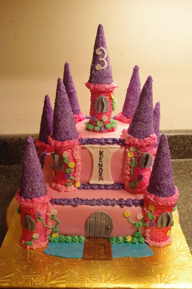 PRINCESS CASTLE PINK AND PURPLE