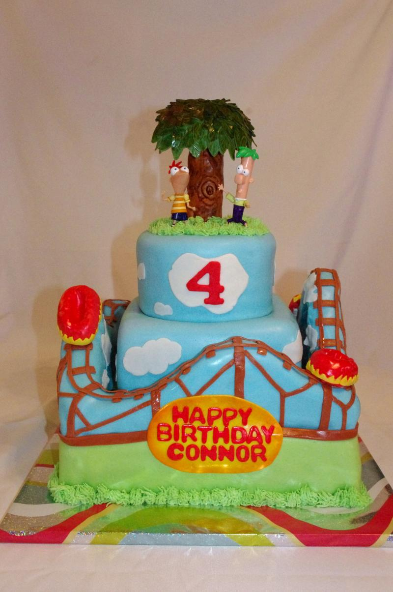 Phineas And Ferb Cake Designs